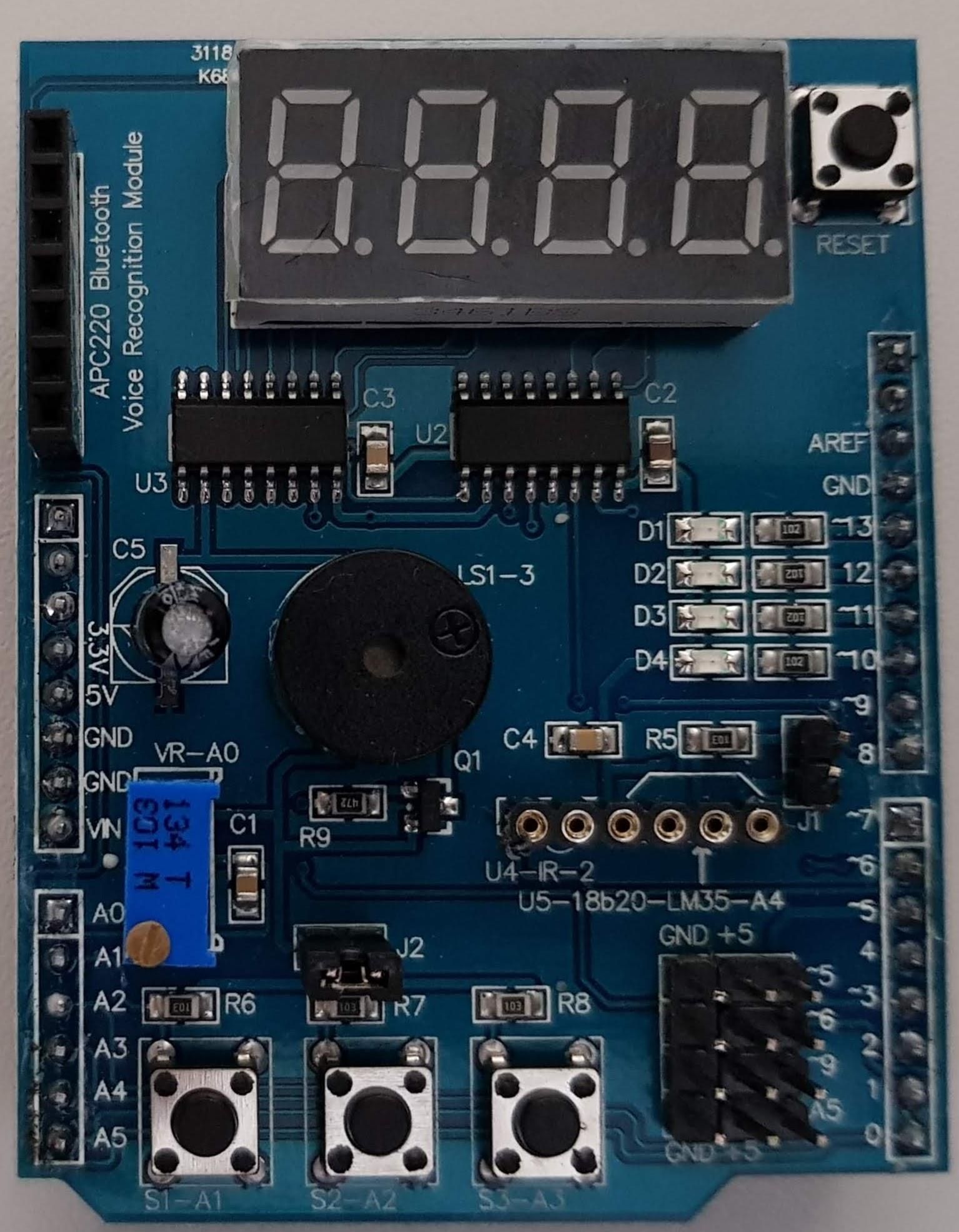 Arduino Multifunktions Zusatzplatine (Front)