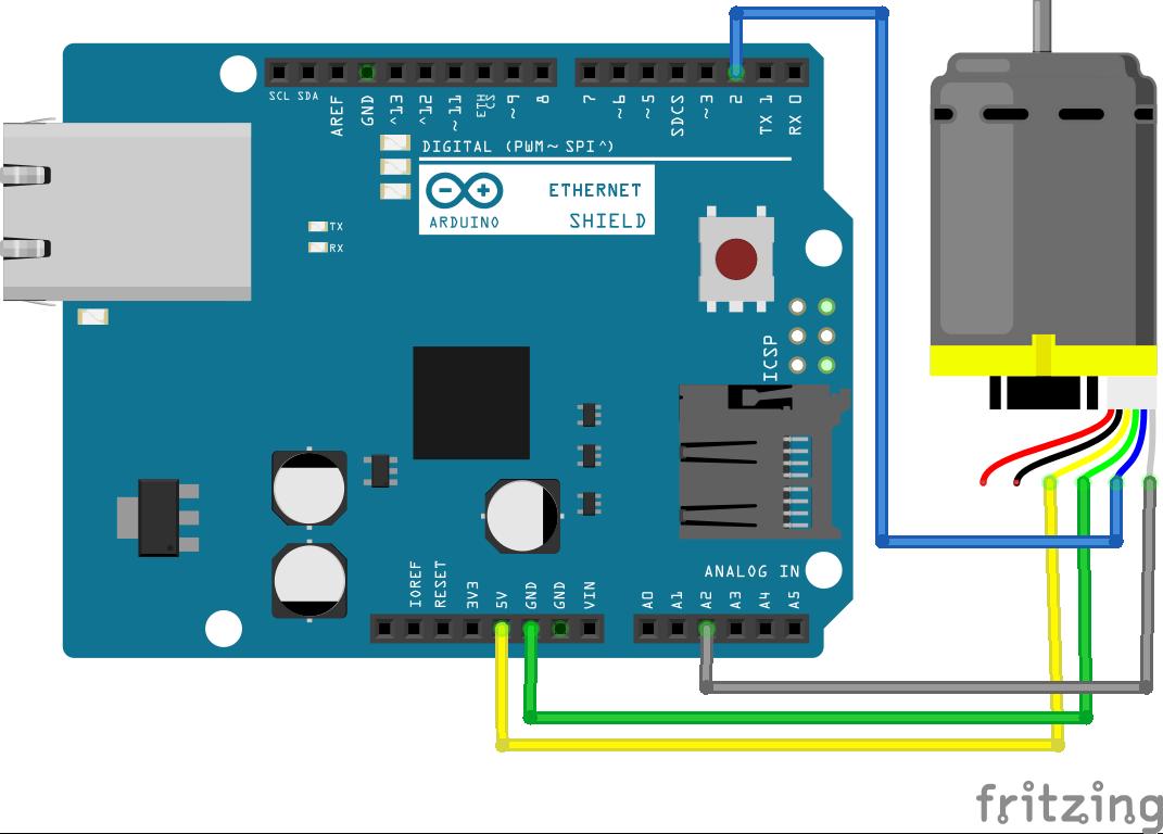 Arduino Uno + Getriebemotor mit Encoder
