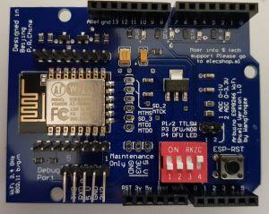 ESP8266 Zusatzplatine von oben