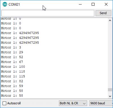 Encoder Test Cosolenausgabe