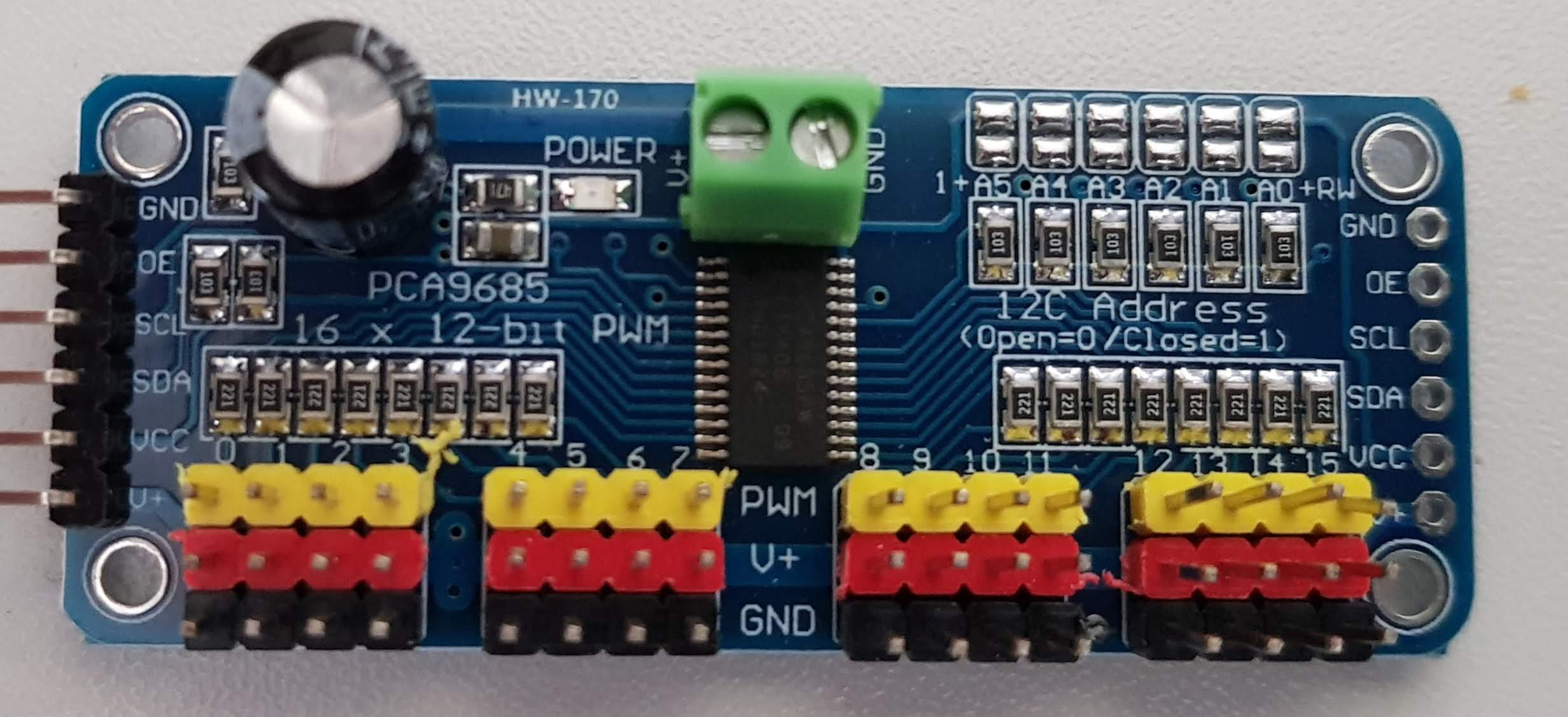 PCA 9685 Servo Driver Board oben